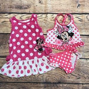 Minnie Mouse Swim Suit & Coverup, 18month